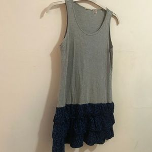 Uniqlo gray tiered sleeveless dress